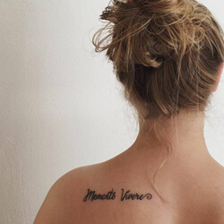 Tattoos Phrases in Latin Memento Vivere - Remember to live