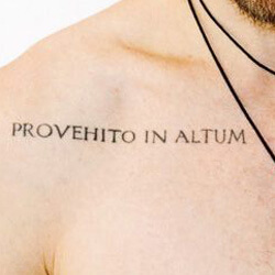 Tattoos Phrases in Latin Provehito In Altum - From the depths to the heights.